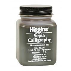 Чернила сепия Higgins Sepia Calligraphy Ink, 2,5 OZ (73,9 мл.)