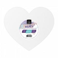 Холст на картоне в форме сердца Малевичъ, 20х17,5 см.