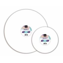 Холст грунтованный круглый на картоне Малевичъ, D: 24 см.
