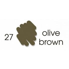 Маркер-кисть акварельный Marvy Artists Brush Оливковый коричневый (№27, Olive Brown)