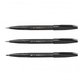 Фломастеры-кисти Pentel Fudemoji Brush Sign Pen XSES15