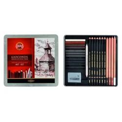 Художественный набор Koh-i-Noor Gioconda Art Set для графики, 24 предмета, металлическая упаковка
