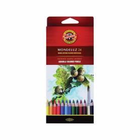 Акварельные цветные карандаши Mondeluz, 24 цветов, картон