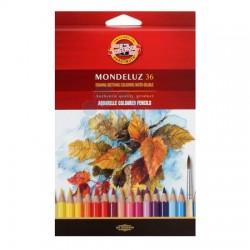 Акварельные цветные карандаши Mondeluz, 36 цветов, картон