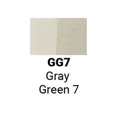 Маркер двусторонний Sketchmarker Серо зелёный 7 (SMGG07, Gray Green 7)