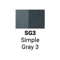 Маркер двусторонний Sketchmarker Простой серый 3 (SMSG03, Simple Gray 3)