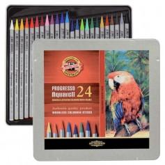 Акварельные карандаши Progresso Aquarell, 24 цвета, металлическая коробка