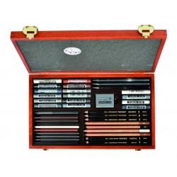 Художественный набор Koh-i-Noor Gioconda Art Set, 39 предметов, дерево