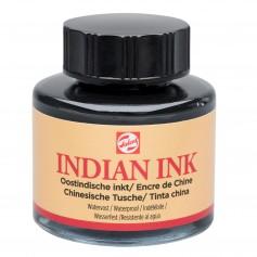 Черные водостойкие чернила Royal Talens Indian ink, 30 мл.