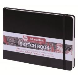 Блокнот для зарисовок пейзажный Royal Talens Art Creation, 21х14.8 см., 140 г/м2, 80 л., твердая черная обложка