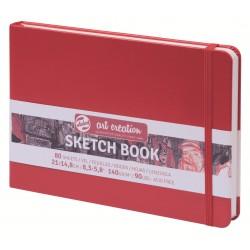 Блокнот для зарисовок пейзажный Royal Talens Art Creation, 21х14.8 см., 140 г/м2, 80 л., твердая красная обложка