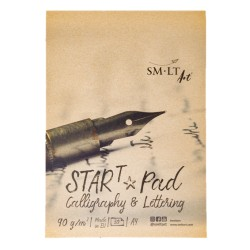 Альбом для каллиграфии и леттеринга SM-LT Calligraphy & Lettering Start Pad, А4, 30 л., 90 г/м2., склейка