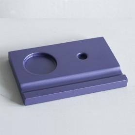 Подставка деревянная под чернильницу и держатель, фиолетовая