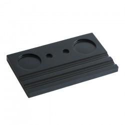 Подставка деревянная двойная под чернильницу и держатель, черная
