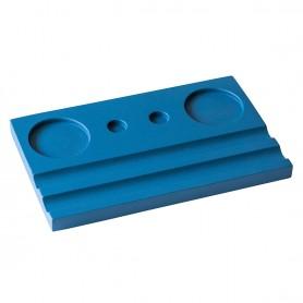 Подставка деревянная двойная под чернильницу и держатель, синяя
