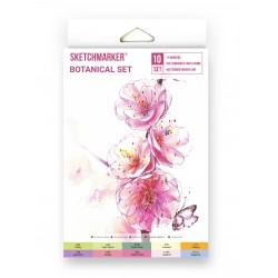 Набор маркеров SKETCHMARKER Botanical (10 маркеров, лайнер, скетчбук), картонная упаковка
