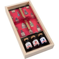 Набор для каллиграфии подарочный Herbin в деревянном пенале
