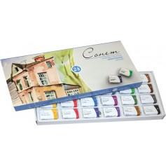 Акварельные краски Сонет, 24 кювета, картонная упаковка