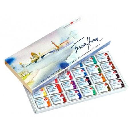 Акварельные краски Белые Ночи, 24 кювета, картонная упаковка