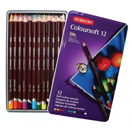 Набор цветных карандашей COLOURSOFT, 12 цв., металл